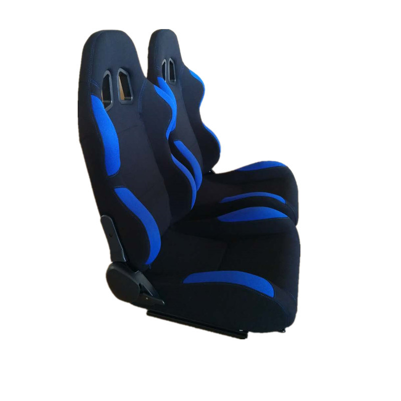 Blue Fabric Car Sport Racing Seats With Single Recliner / Single Slider JBR1001