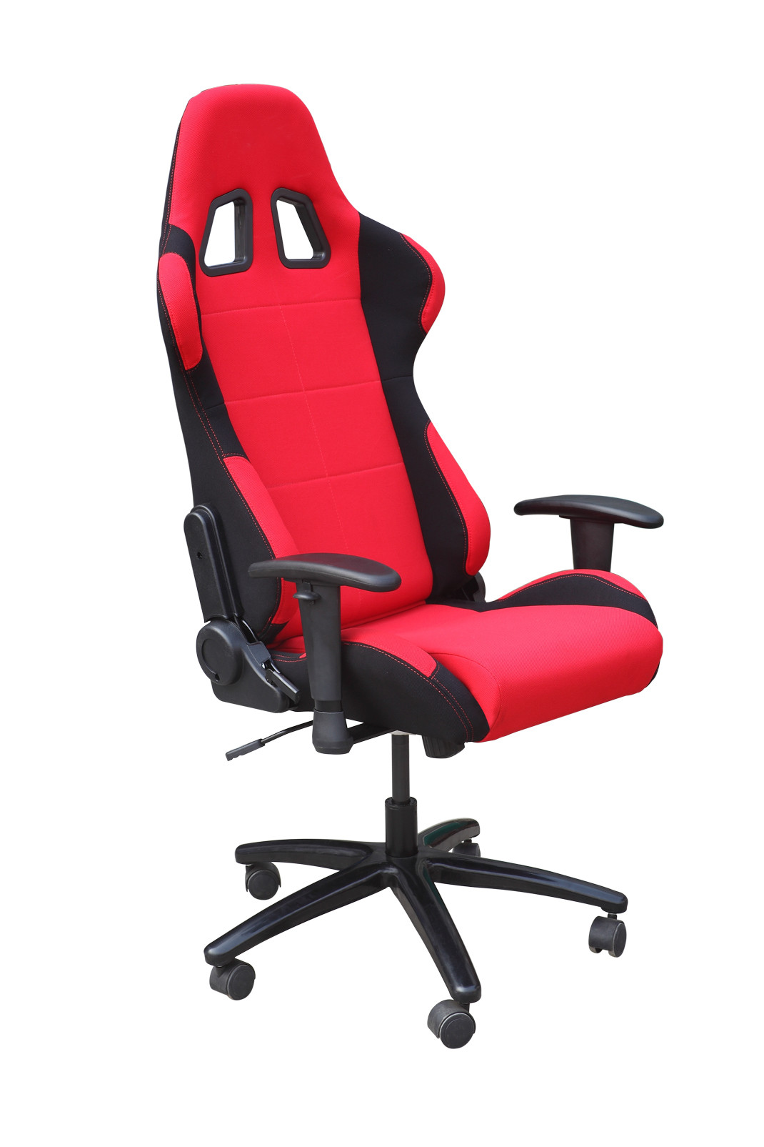 Comfy Colorful Leather Adjustable Office Chair With Spray Painting Feet SGS